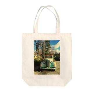classic U.S.A車 Tote bags
