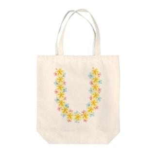ハワイアンレイイエロー Tote bags