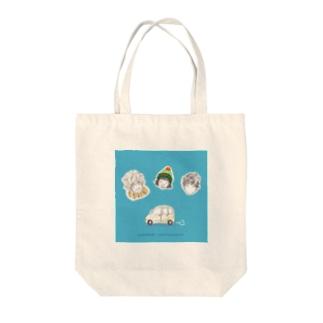 3人、動物園へ Tote bags