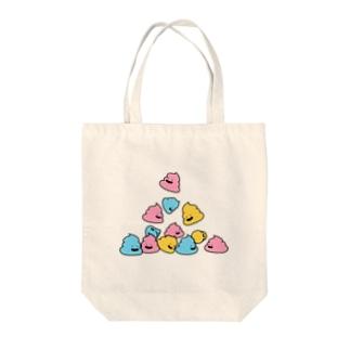 うんちゃんがいっぱい Tote bags