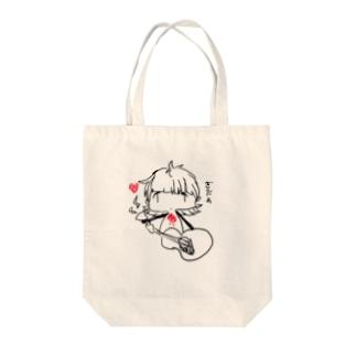 ぎたぁ Tote bags