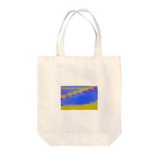 グリッチ Tote bags