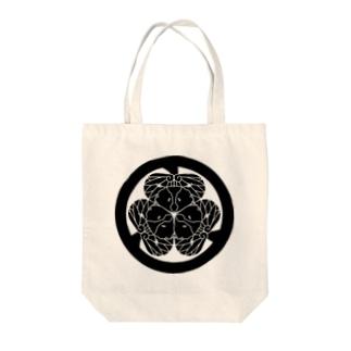 動物家紋。H.T.(三つ葉葵ハシビロコウ) Tote bags