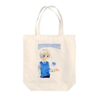 くらげと男の子 Tote bags