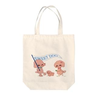 おさんぽプードル Tote bags
