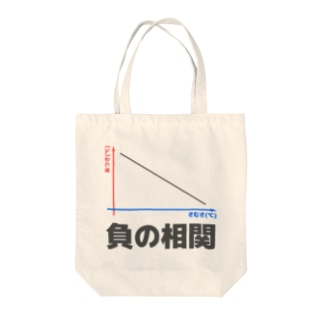 負の相関 Tote bags