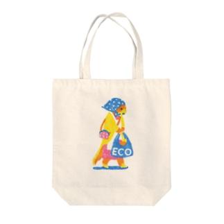 えこ/いたち Tote bags
