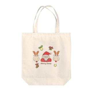 ふんわりクリスマス Tote bags