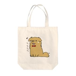 おすわり Tote bags