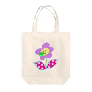 バリ眠ハナちゃん Tote bags