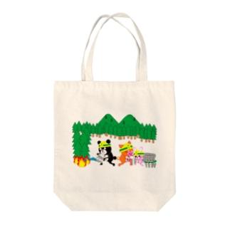 なうくまと仲間たち(消火中) Tote bags