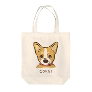 生意気コーギー Tote bags