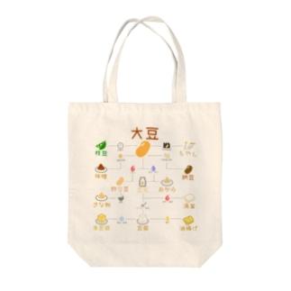 豆知識トートバッグ Tote bags