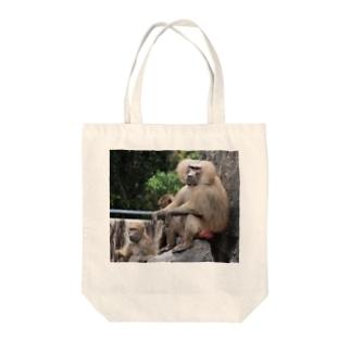 マントヒヒ Tote bags