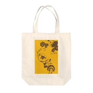 夏の草花(イエロー) Tote bags