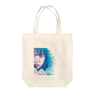 girl.1_watercolor Tote bags