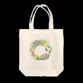 和田真希のお店の早春リース Tote bags