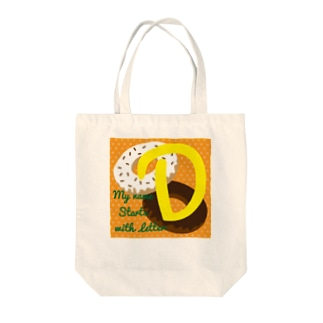 MY name start with D for kids Tote bags