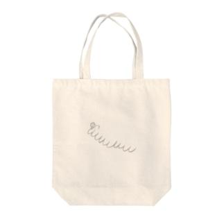 九重顎イモムシ Tote bags