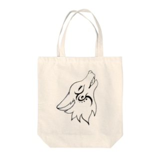 オオカミ Tote bags