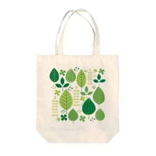 緑の葉 Tote bags