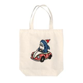 クリスマスな運転を覚えたサメ2020 Tote bags