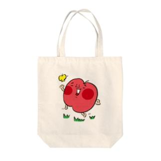 陽気なりんごちゃん Tote bags