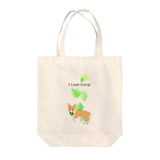 コーギーが好き(フォーン) Tote bags