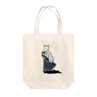 猫侍(カラー) Tote bags