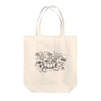 Ocean_Turtle_plain Tote bags