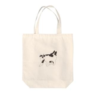 猫と猫(透過) Tote bags