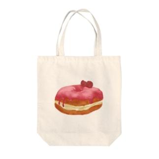 ラズベリードーナツ Tote bags