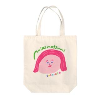 みきなつみの顔トートバッグ Tote bags
