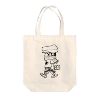 さすらいのレレボーイ(シロ) Tote bags