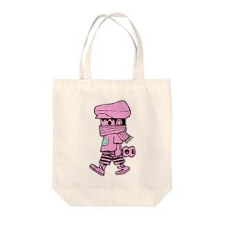 さすらいのレレボーイ(ピンク) Tote bags
