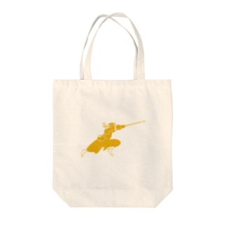 Life with Kendo (men gold) Tote bags