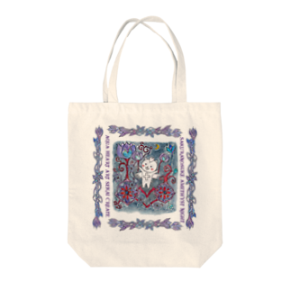 ERIKOERIN ART SHOPのSAKURANOSUKE AMETHYST NIGHT/絵画トート Tote bags