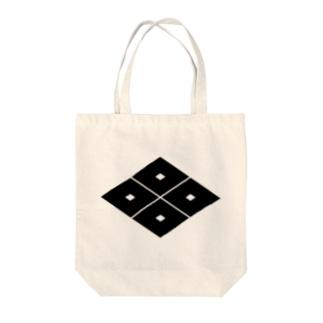 家紋 0053 四つ目菱 Tote bags