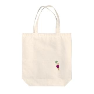 アイスメンダコ Tote bags