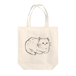 お座りペルシャ猫 Tote bags