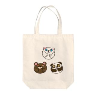 クマさんトリオ Tote bags