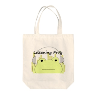 Listening Frog Tote bags