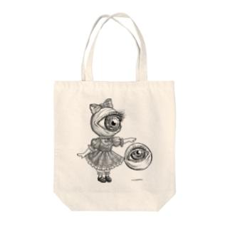 目玉少女 Tote bags