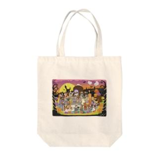 秘密のハロウィーンパーティ Tote bags