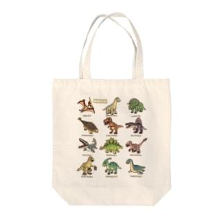 恐竜図鑑 Tote bags