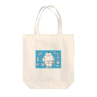 mushi-mushi-sakの太っちょくん Tote bags