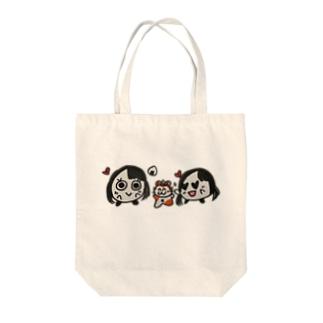 ミニカンダちゃん③ (仲良し) Tote bags