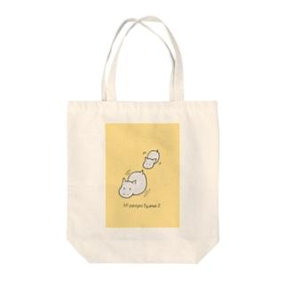 よぴ屋のカバの親子 Tote bags