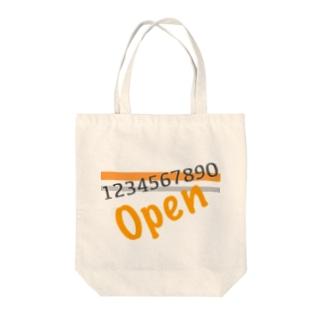 文字シリーズ(英語+数字)① Tote bags