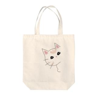 覗く猫 Tote bags